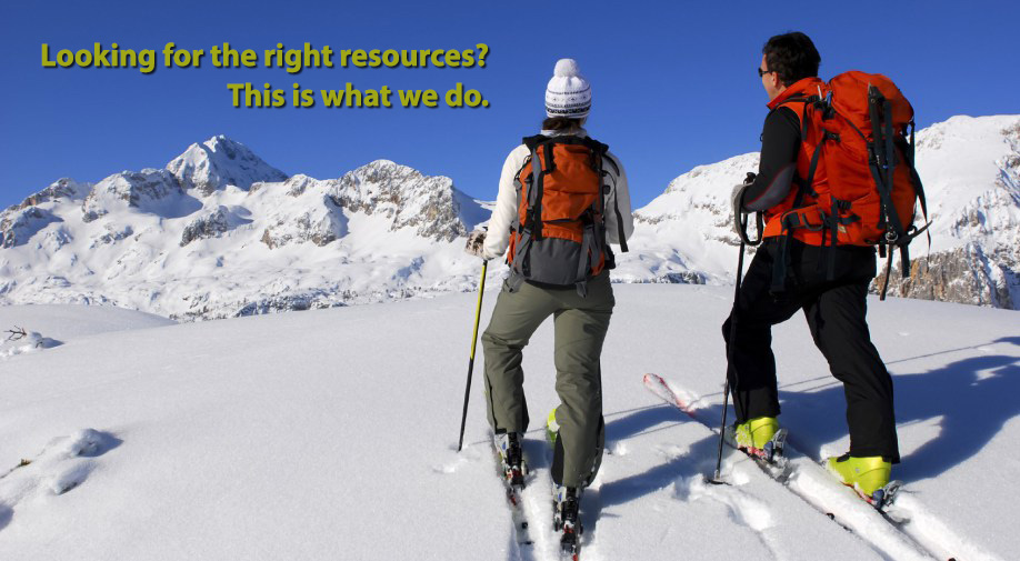 Looking for the right resources? This is what we do.
